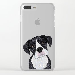 Black & White Boxer Clear iPhone Case