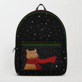 Knitted Wintercat Backpack