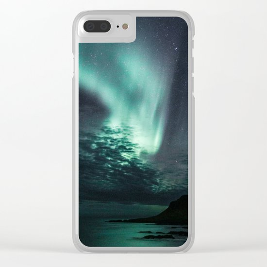 Aurora Borealis XXI Clear iPhone Case