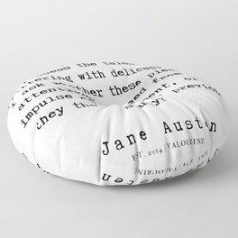 96      Jane Austen Quotes   190722 Floor Pillow