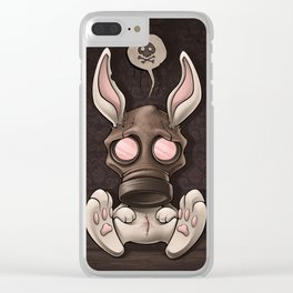 Toxic Bunny Clear iPhone Case