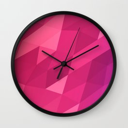 Pink Hologram Wall Clock