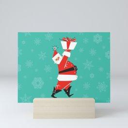 Mid-Century Modern Santa Mini Art Print