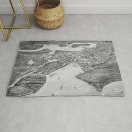 Vintage Pictorial Map of Seattle (1908) Rug