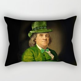 St Patrick's Day for Lucky Ben Franklin Rectangular Pillow