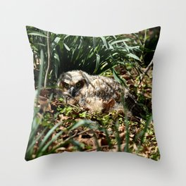 Brave in a new world Throw Pillow