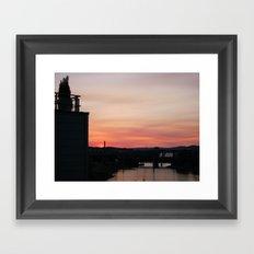 Sunset from the Balcony Framed Art Print