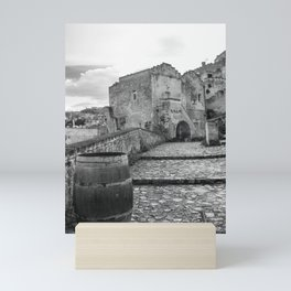 BnW Matera cityscape Mini Art Print