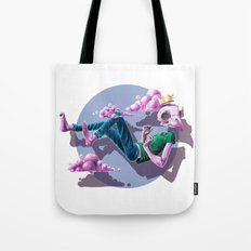 Chilling Among The Clouds Tote Bag