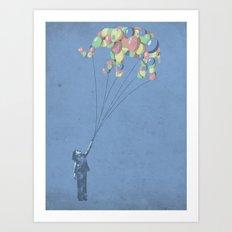 The Lightest Elephant Art Print