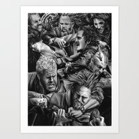sons of anarchy Art Prints featuring sons of anarchy by dollface87