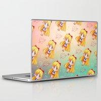 sailor venus Laptop & iPad Skins featuring Sailor Venus Pattern by Neo Crystal Tokyo