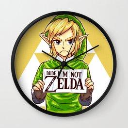 Dude i'm Not Zelda Wall Clock