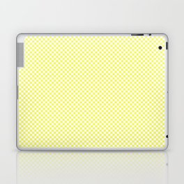 Pastel Limelight Yellow and White Mini Check 2018 Color Trends Laptop & iPad Skin