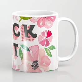 Fuck It – Pink & Green Floral Palette Coffee Mug