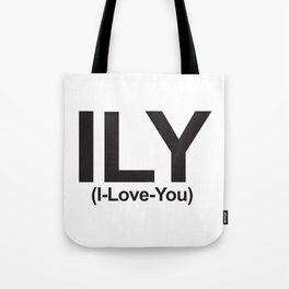 ILY (I-Love-You) Tote Bag
