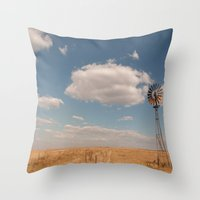 country Throw Pillows featuring Country by Lorryn Smit