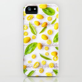 Fruits and leaves pattern (22) iPhone Case
