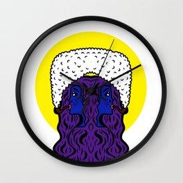 Gemini Goddesses Wall Clock