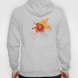 Grunge Flaming Basketball Hoody