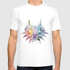 Majoras Mask Mens Fitted Tee White LARGE