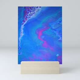 Fantasy II - Bright Sapphire Blue Ultra Violet Purple Fluid Abstract Mini Art Print
