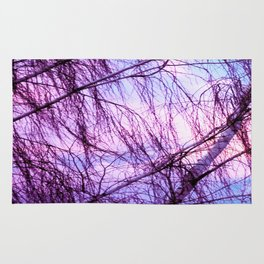 Pink Lavender Sky Through Wispy Trees Rug