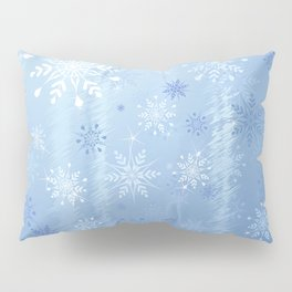 Christmas Snowflakes and Ice Background Pillow Sham