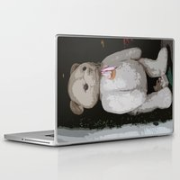 teddy bear Laptop & iPad Skins featuring Teddy Bear by Christiane W. Schulze Art and Photograph