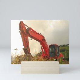 Construction machinery Mini Art Print