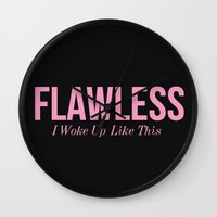 flawless Wall Clocks featuring Flawless by LuxuryLivingNYC