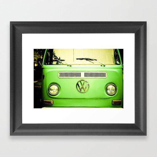 Summer of Love - Groovy Green Framed Art Print