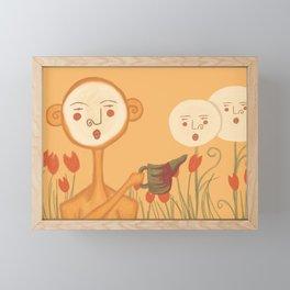 Moon Garden Framed Mini Art Print