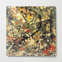Jackson Pollock, digitally vectorised and filtered, fine art decor and clothing Metal Print