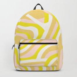 yellow zebra stripes Backpack
