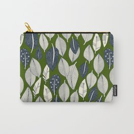 leaves and feathers green Carry-All Pouch