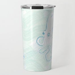 octopus and eels in the ocean life Travel Mug