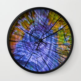 Nature's Tye Dye Wall Clock