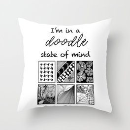 Doodle State of Mind Throw Pillow