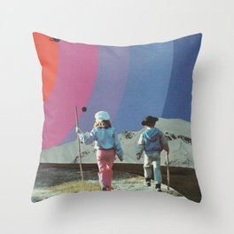 Neighboring Planets Throw Pillow