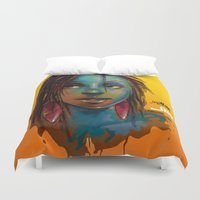 afro Duvet Covers featuring Afro Brazilian by Artist Jai