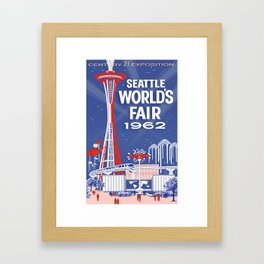 Seattle 1962 World's Fair Vintage Poster Framed Art Print