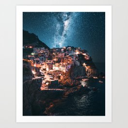 manarola at night Art Print