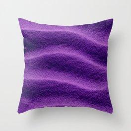 Sand_Ripples - Purple Throw Pillow
