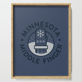 Minnesota Middle Finger Serving Tray