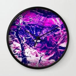 Savage Grandeur-purple Wall Clock