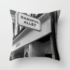 Bashful Alley Throw Pillow