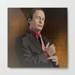 Breaking Bad Illustrated - Saul Goodman Metal Print