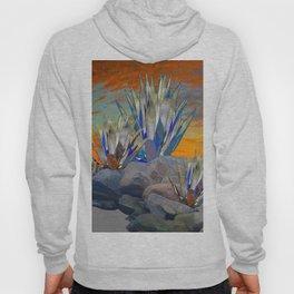AGAVE CACTI DESERT SUNSET LANDSCAPE ART Hoody