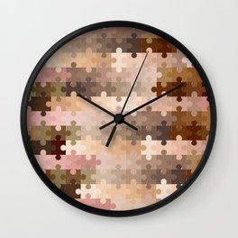 Skin Tone Jigsaw Pieces Wall Clock